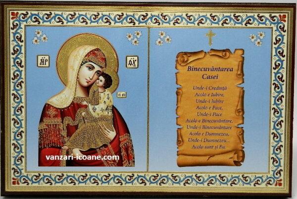 icoana Maicii Domnului cu binecuvantarea casei