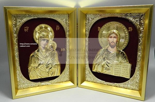 icoane aurii diptic