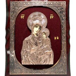 icoana-din-bronz-pe-catifea