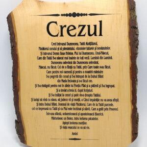 Aplica din lemn Crezul