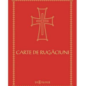 Carte de rugaciuni rosie cu scris mare