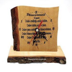 Ceas din lemn Binecuvantarea casei