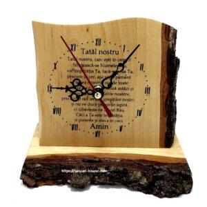 Ceas din lemn Tatal nostru