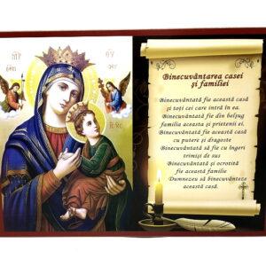 Icoana binecuvantarea casei Maica Domnului Patimitoarea
