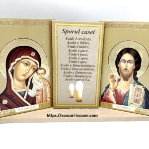 Set icoane Maica Domnului si Iisus cu binecuvantarea casei
