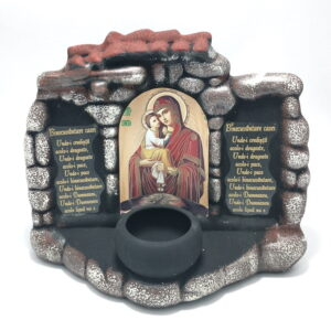 Candela ceramica Icoana Maicii cu Pruncul
