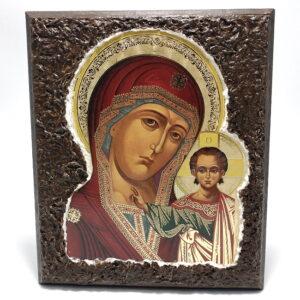 Icoana traditionala Maica Domnului si Pruncul Iisus